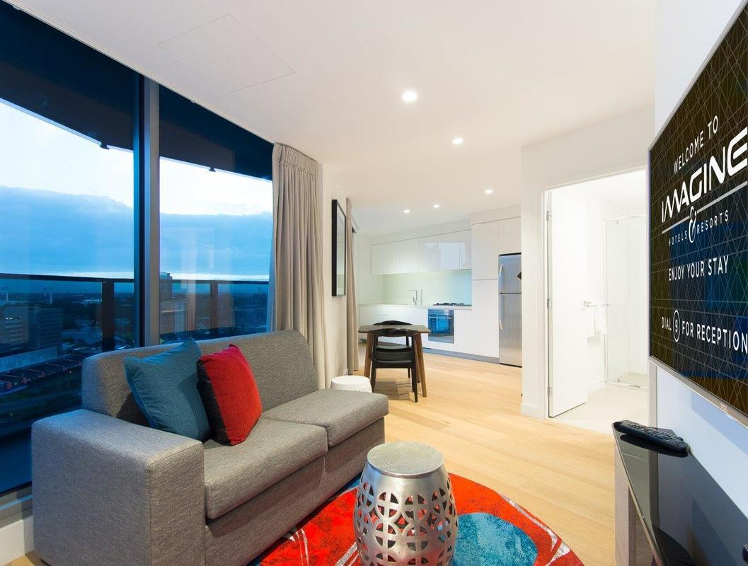 One-bedroom sky apartment at Imagine Marco Hotel in Southbank, Australia